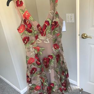 """New with tags """"Dress the Population"""" floral dress"""